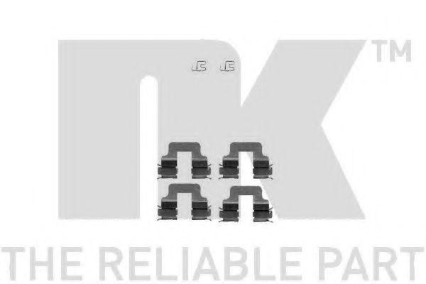 NK 7910245 Комплектующие, колодки дискового тормоза