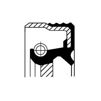 CORTECO 12015711B Уплотняющее кольцо, коленчатый вал; Уплотняющее кольцо, ступенчатая коробка передач; Уплотняющее кольцо, распределительный вал