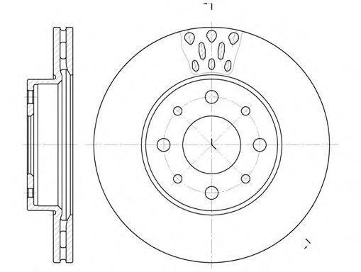 ROADHOUSE 6517.10 Тормозной диск