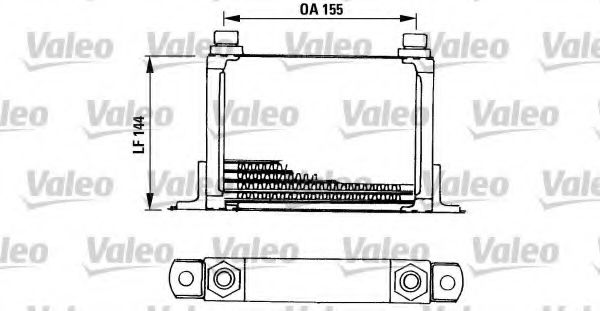 VALEO 816666 масляный радиатор, двигательное масло