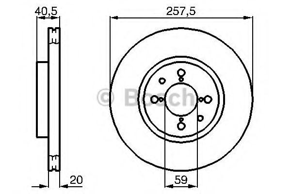 BOSCH 0 986 478 515 Тормозной диск