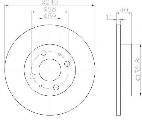 TEXTAR 92061103 Тормозной диск