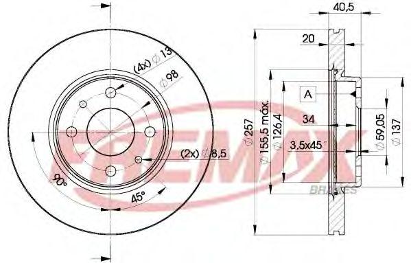 FREMAX BD-5056 Тормозной диск