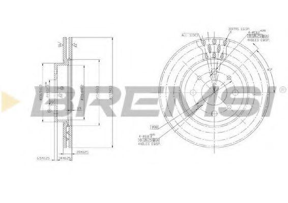 BREMSI DBA521V Тормозной диск
