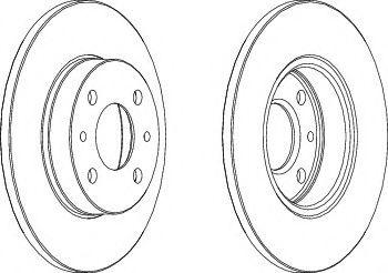 FERODO DDF140 Тормозной диск