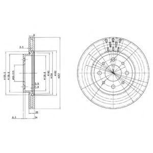 DELPHI BG2830 Тормозной диск